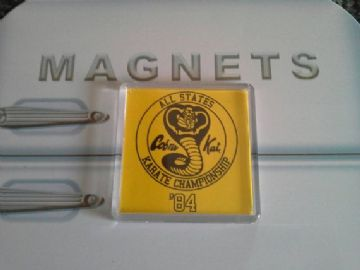 The Karate Kid Cobra Kai Fridge Magnet. All States Karate Championship '84